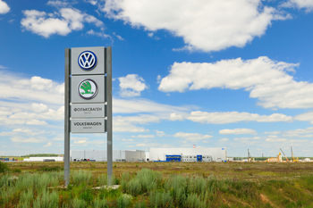 Plant of the company Volkswagen in Kaluga, Russia