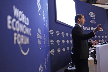 Dmitry Medvedev at the World economic Forum