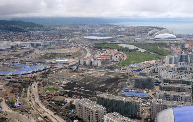 Olympic projects under construction in Sochi