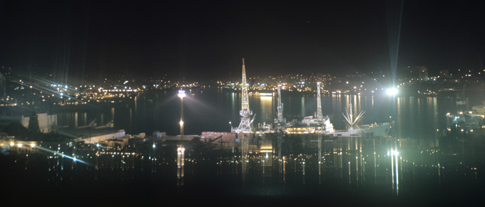 Vladivostok in the night