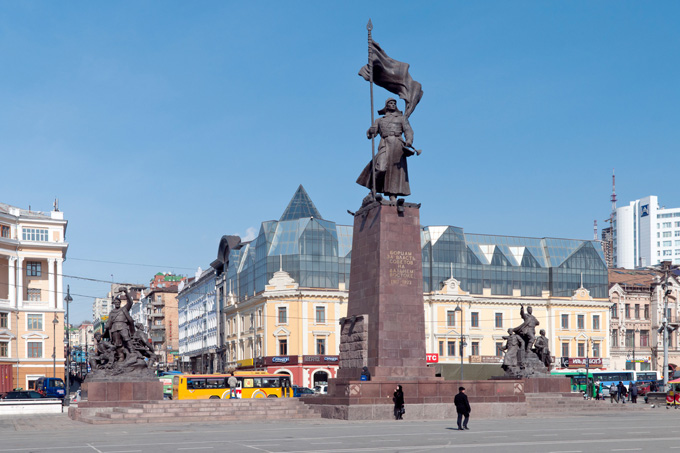 The Fighters for the Soviet government square – the city's central square